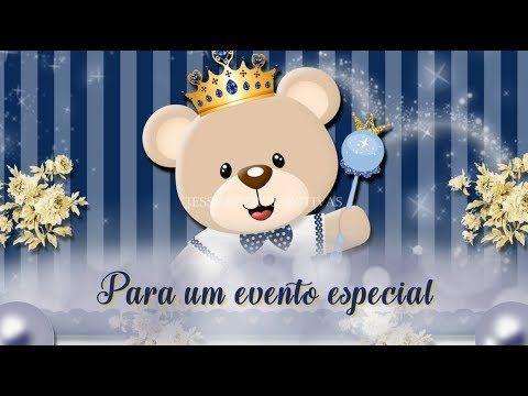 Convite Animado Urso PrÍncipe Para Whatsapp