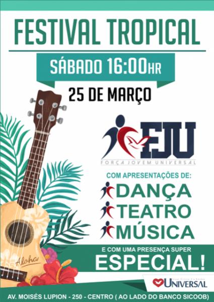 Grupo Da Força Jovem Realizará Festival Tropical Na Igreja