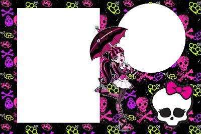 Monster High  Invitaciones Para Imprimir Gratis