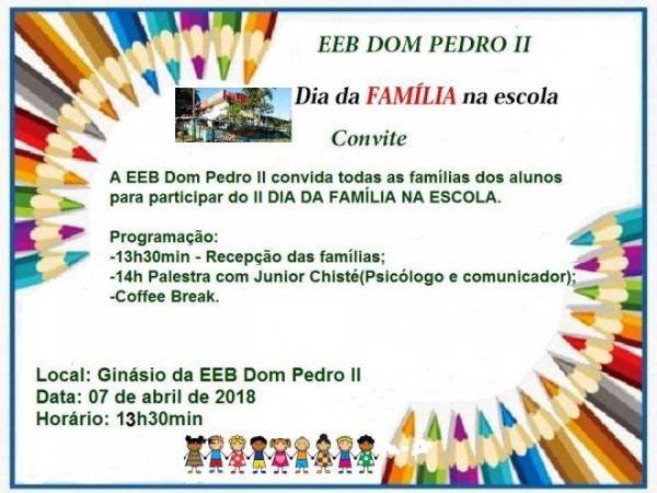 Eeb Dom Pedro Ii De Caibi Realiza Dia Da Família Na Escola