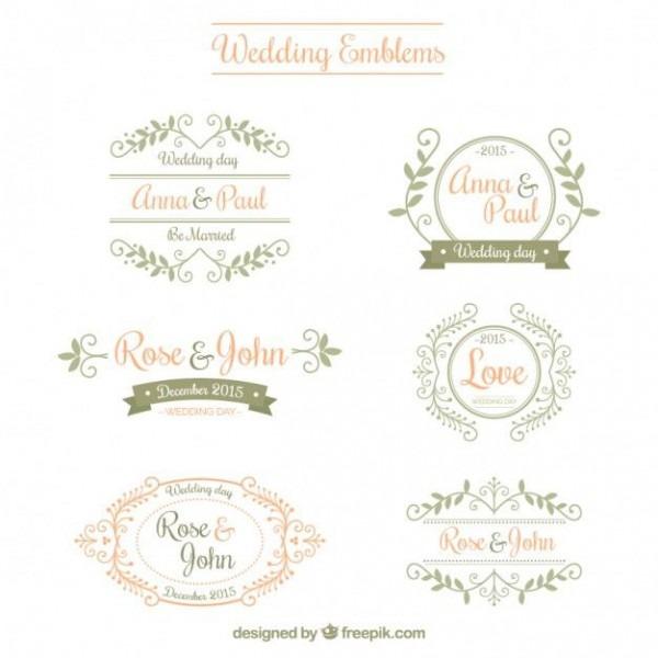 Emblemas Do Casamento Ornamentais Em 2019