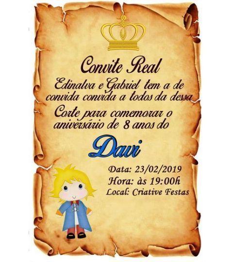 30 Convites Pequeno Príncipe Pergaminho