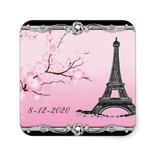 3 8 Cm Parisiense Torre Eiffel Selos Praça Do Convite Do Casamento
