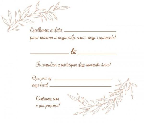 10 Convites De Casamento Rústico – Modelos De Convite