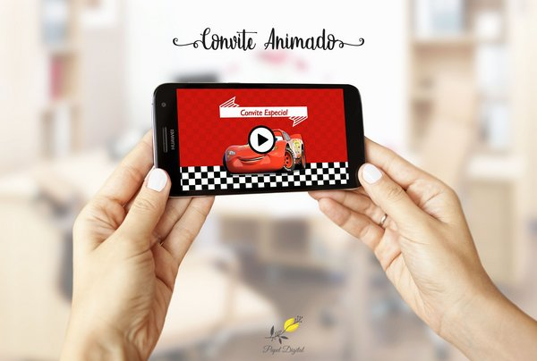 Convite Animado (vídeo) Carros