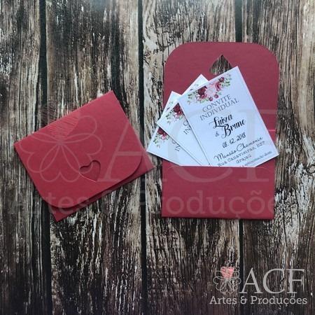 Mini Envelope Convite Individual