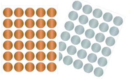 Etiquetas Adesiva Lacre Dourado, Prata Ou Transparente