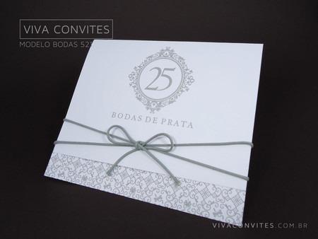 Convite Bodas De Prata 521