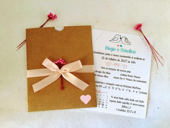 Compre Convite Casamento Rustico No Elo7 Por R$ 3,50