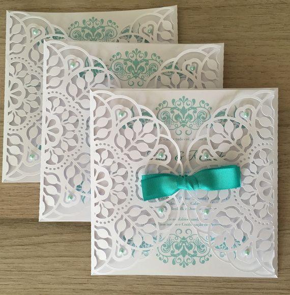 Envelope Rendado Para Convite Vint