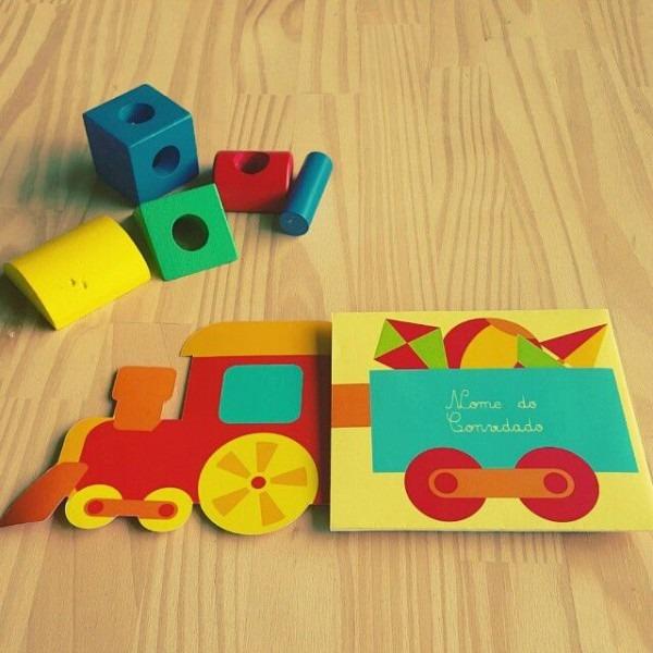 Convite Divertido Para Festa Tema Brinquedos Com Os Vagões Do Trem