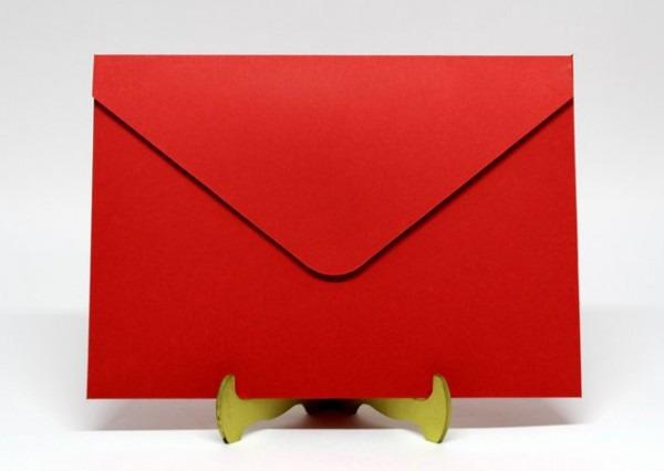 Envelope Convite Vermelho 10 Unidade