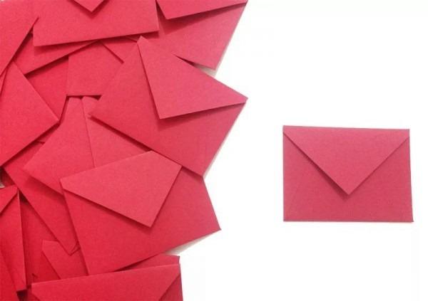 90 Mini Envelopes Convite Individual 6,5x4,7cm