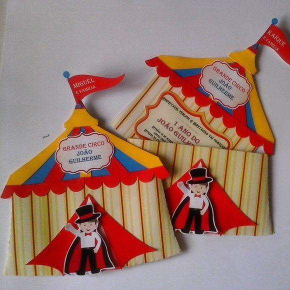 Convite Tenda Circo Em Scrap