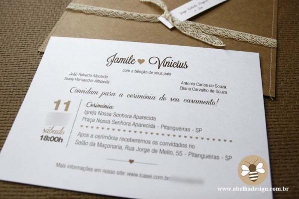 Convites De Casamento Estilo Clássico