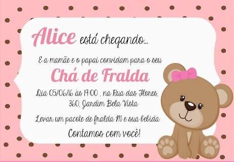 Resultado De Imagem Para Convite Cha De Bebe Ursinha Princesa