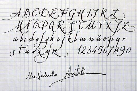 Caligrafia Para Convites Alfabeto