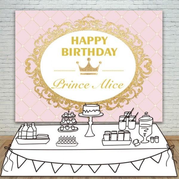 Convite Princesa Rosa E Dourado