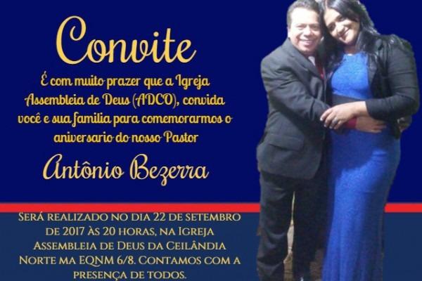 Culto De Aniversário Pastor Antônio Bezerra – Adcn – Assembleia De