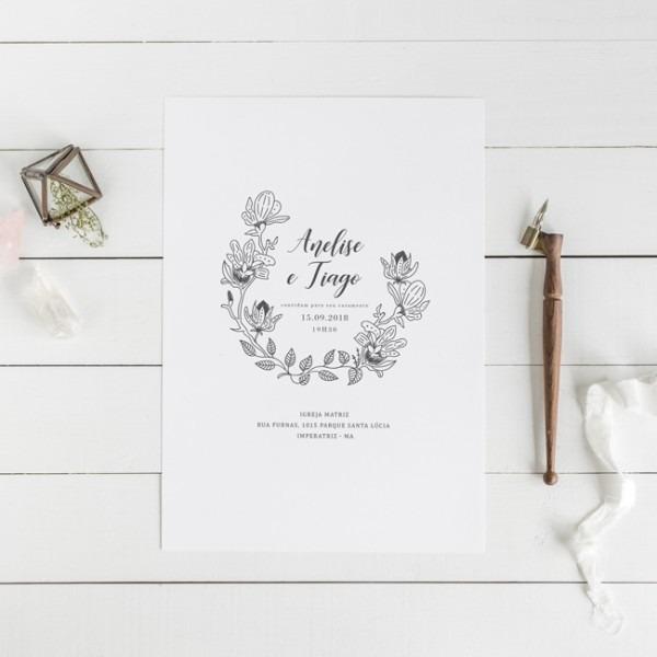 Convite Digital De Casamento Monograma – Studio Pomme