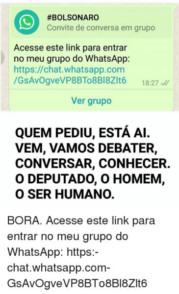 Bolsonaro Convite De Conversa Em Grupo Acesse Este Link Para