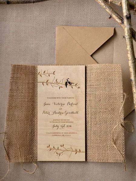 Pesquisas De Noiva  Inspirações  Convites Rústicos Para Casamento