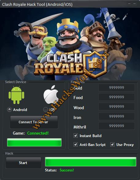 Clash Royale Hack [ Free Gems & Gold ]