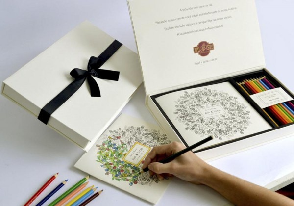 Convites Para Padrinhos Ilustrado Convite Para Colorir