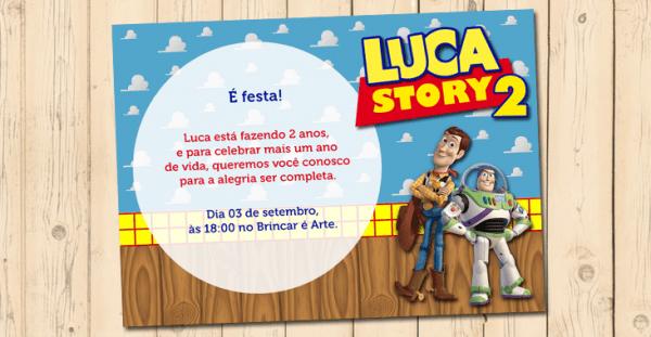 Convite Toy Story