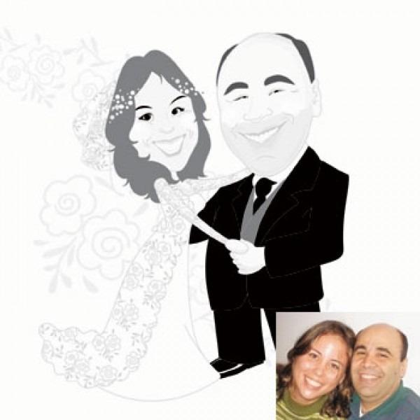 Caricatura De Casamento Na Zona Norte