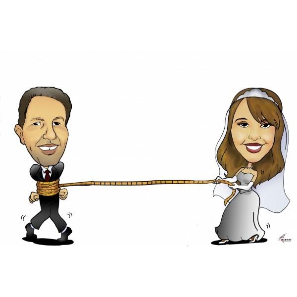 Caricaturas Convites De Casamento No Jardim Santa Inês