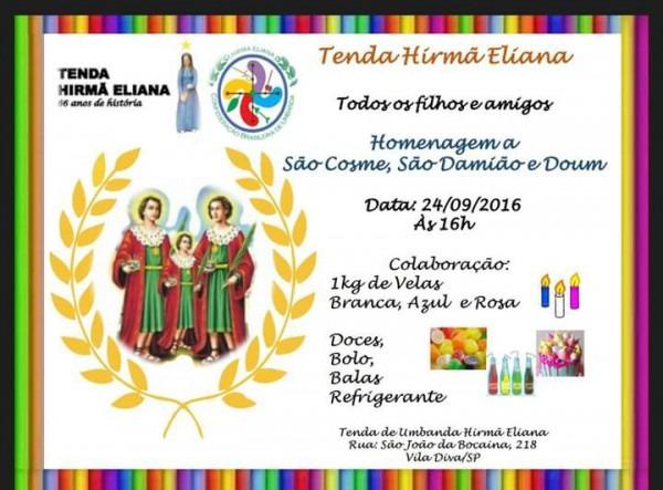 Evento Festas De Cosme E Damião 2016