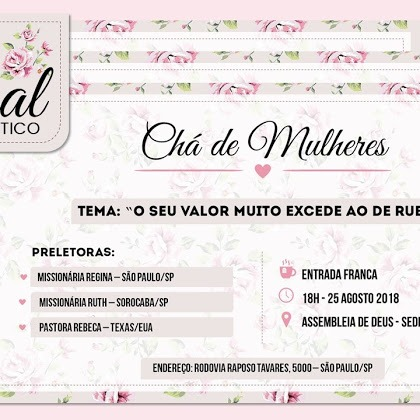 Freebie  Convite Chá De Mulheres Editável