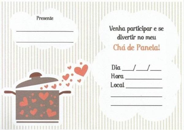 20 Convites Estilosos Para Chá De Panela – Modelos De Convite