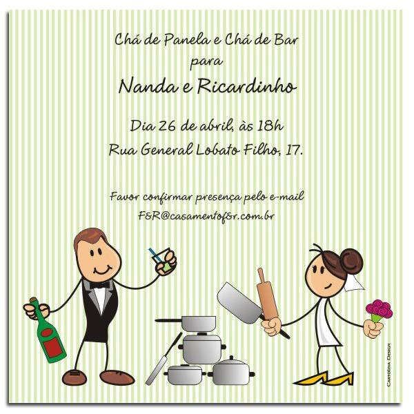 Convite Chá De Panela Noivinhos
