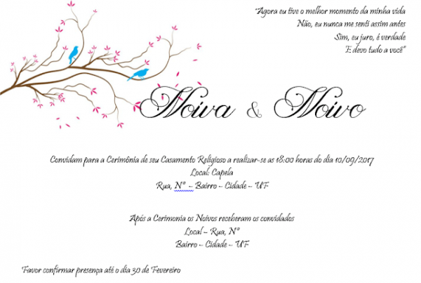 Diário De Noiva Sem Grana  Convite De Casamento Para Download