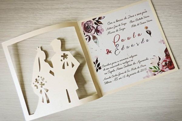 Convite Casamento Noivo E Noiva