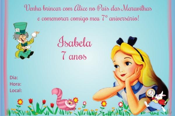 Convite Alice No País Das Maravilhas 2 No Elo7
