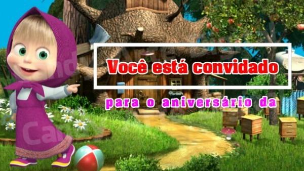Convite Animado Aniversário Masha E O Urso