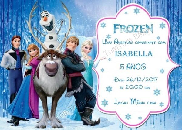 Convite Aniversário Frozen No Elo7