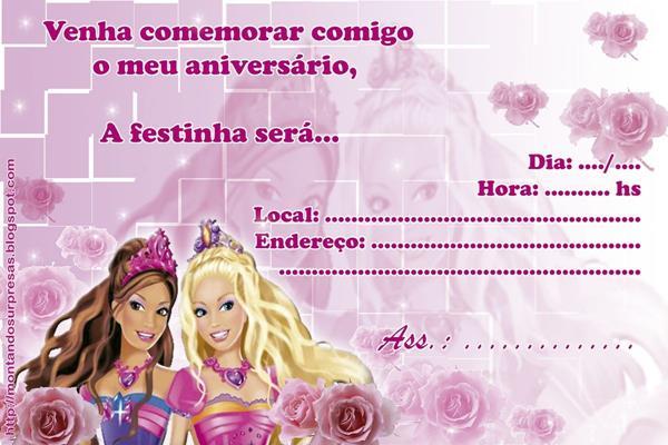 42 Convites Da Barbie Com A Boneca Mais Famosa Do Mundo! – Modelos