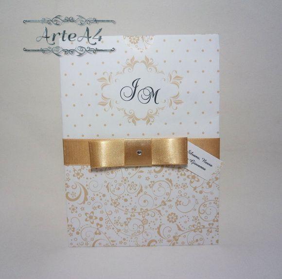 Convite Bodas De Ouro Envelope Luva Grd