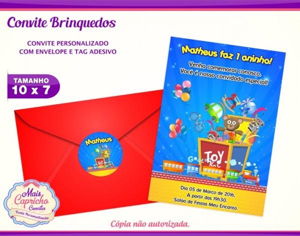 Convite Festa Dos Brinquedos