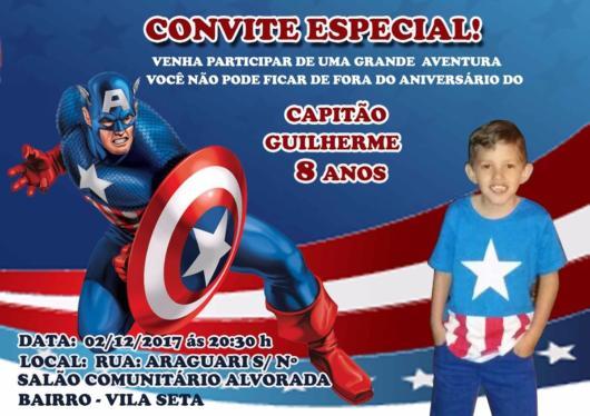 Convite Capitão América – 35 Modelos Adoráveis Para Seus Convidados!