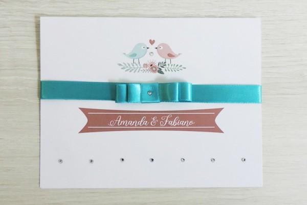 Convite Casamento Passarinhos