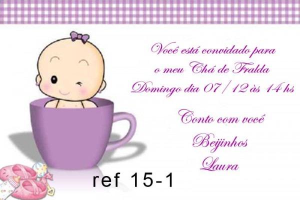 Convite Cha De Fraldas 15 Anos