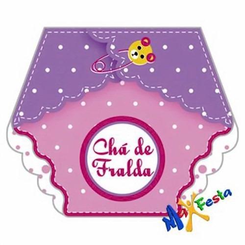 Convite Chá De Fraldas Menina