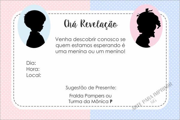 Convite Cha Revelação Virtual Editar