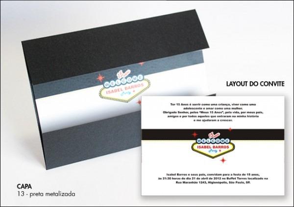 Convite Com Capa 20x14 Cm