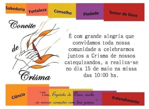 Convite De Crisma – 2016